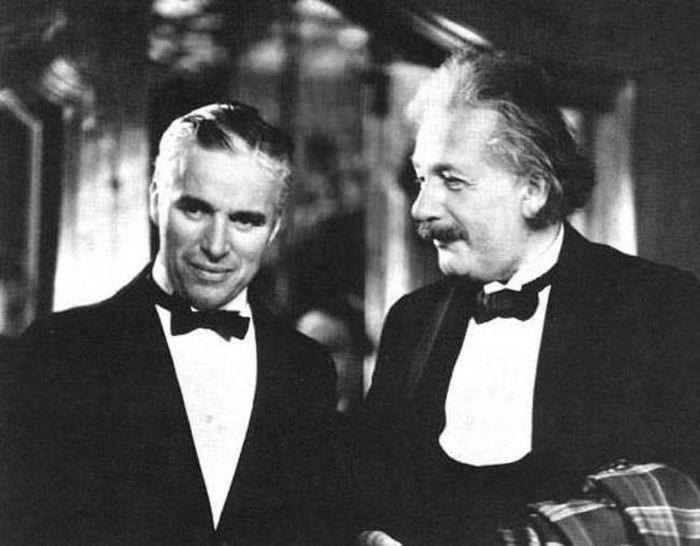 Чарли Чаплин және Алберт Эйнштейн