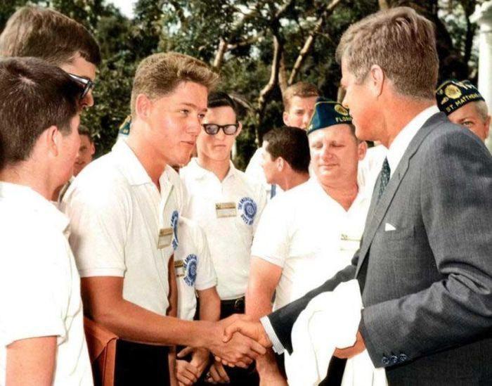 Билл Клинтон және Джон Кеннеди