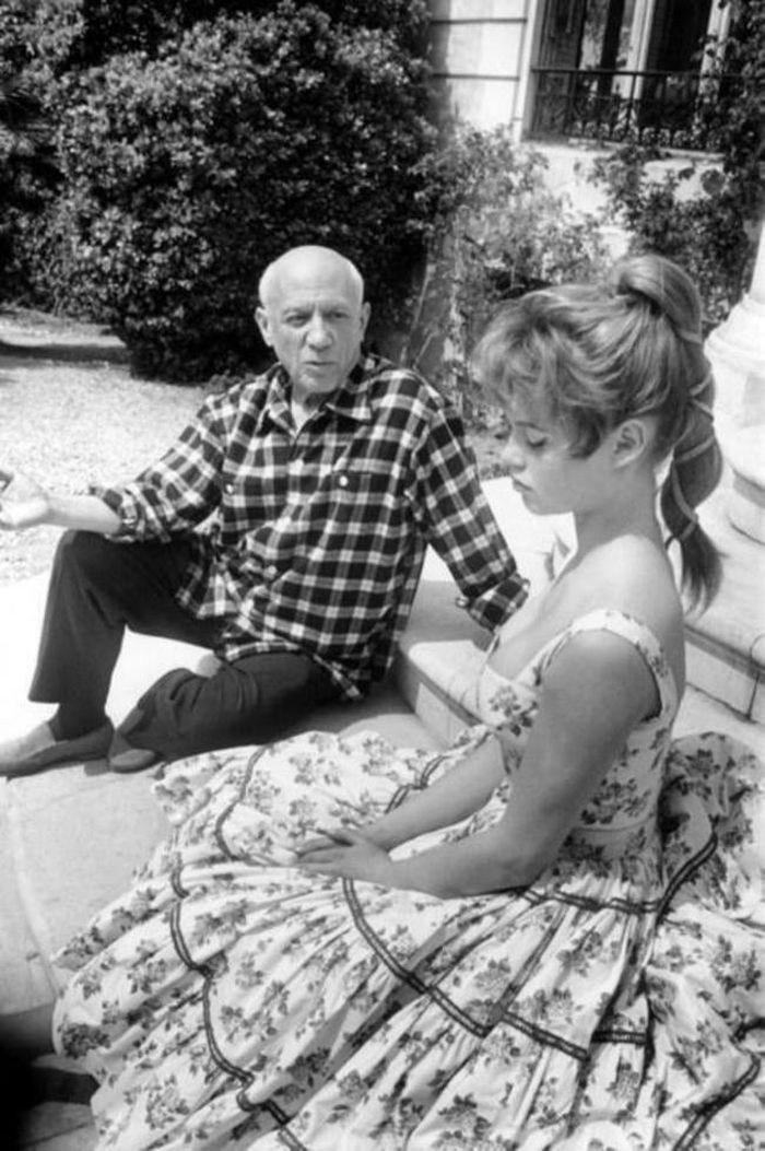 Пабло Пикассо жәнеБрижит Бардо, 1956 жыл